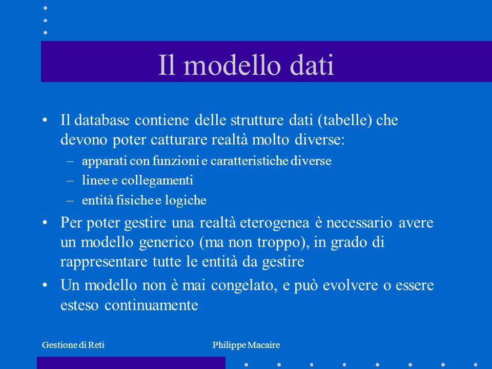 Il modello dati Il database contiene delle strutture dati (tabelle) che devono poter catturare realtà molto diverse: