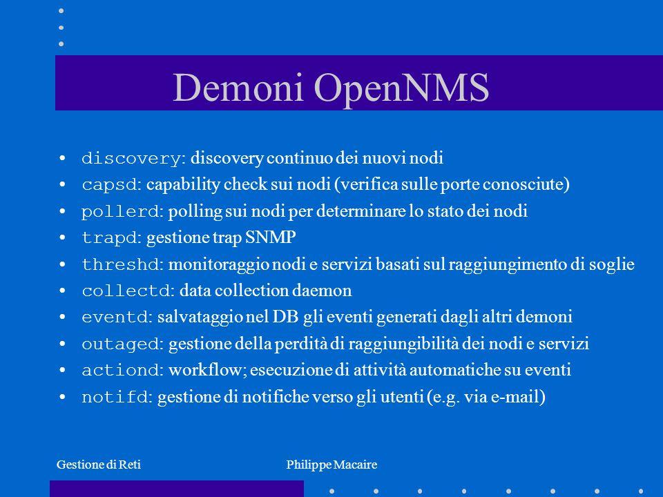 Demoni OpenNMS discovery: discovery continuo dei nuovi nodi