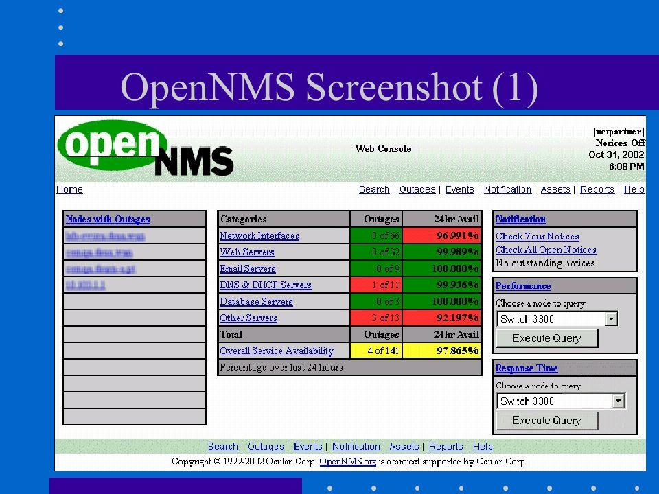 OpenNMS Screenshot (1) Gestione di Reti Philippe Macaire