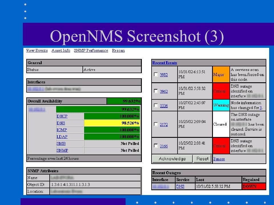 OpenNMS Screenshot (3) Gestione di Reti Philippe Macaire