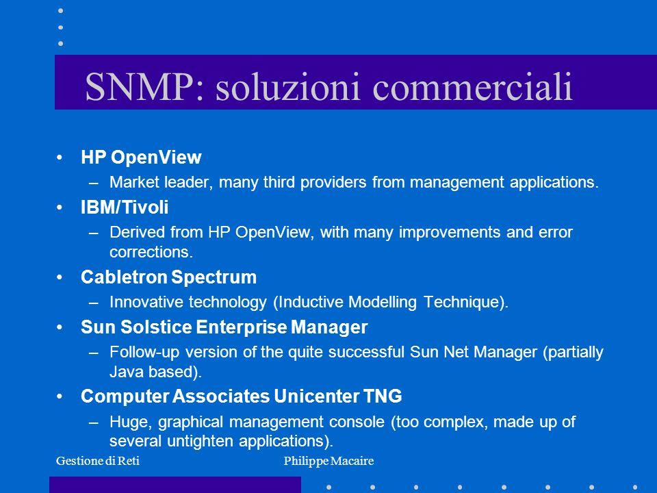 SNMP: soluzioni commerciali