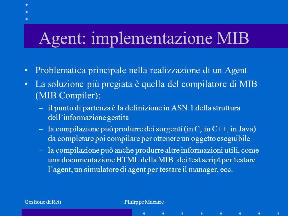 Agent: implementazione MIB