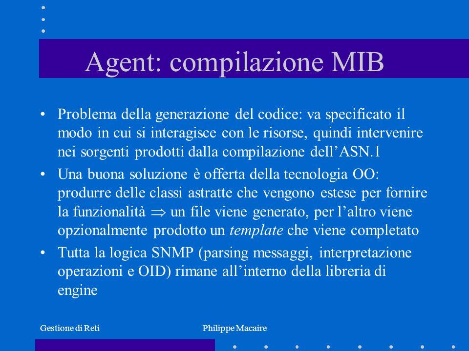 Agent: compilazione MIB