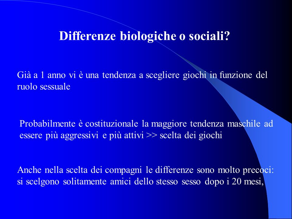 Differenze biologiche o sociali