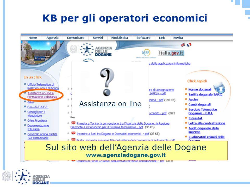 KB per gli operatori economici