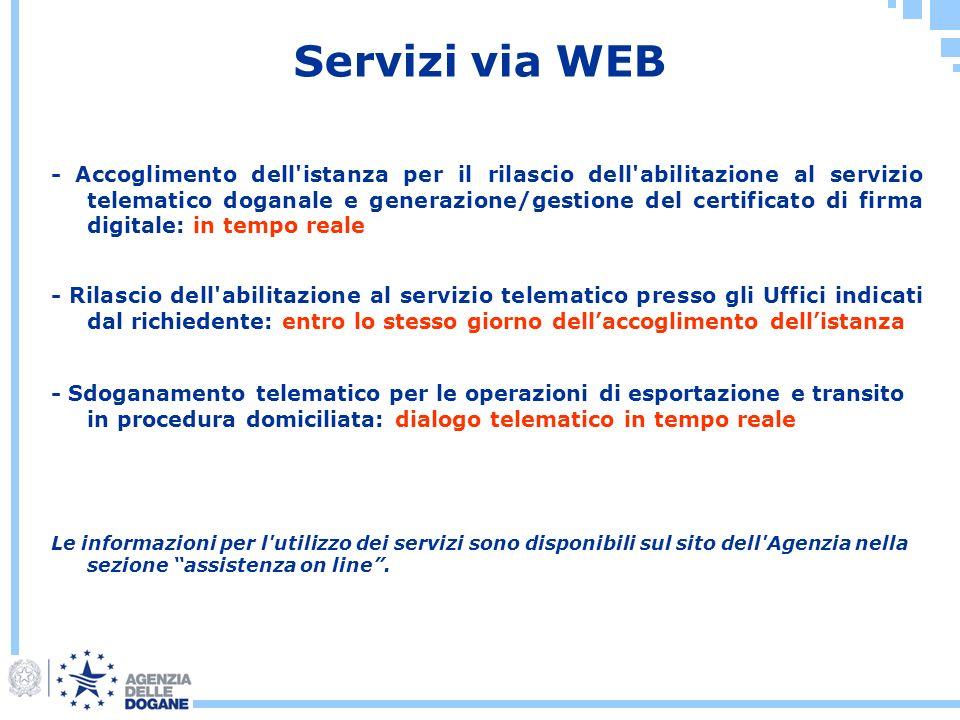 Servizi via WEB