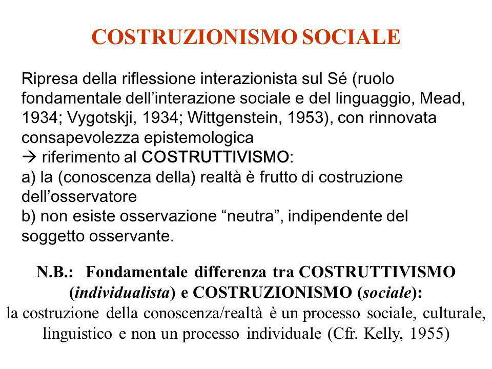COSTRUZIONISMO SOCIALE