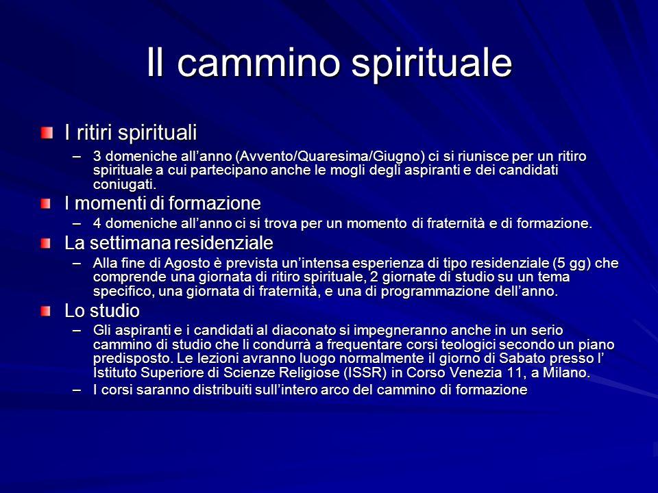 Il cammino spirituale I ritiri spirituali I momenti di formazione