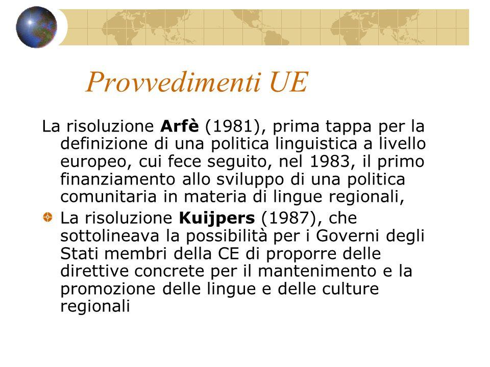 Provvedimenti UE