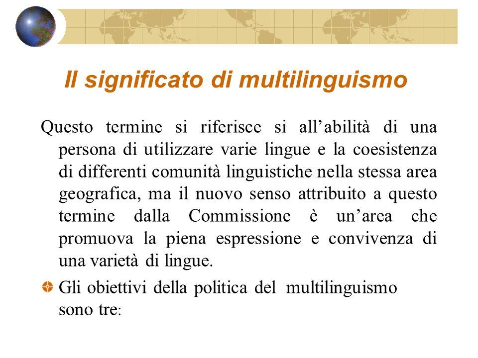 Il significato di multilinguismo