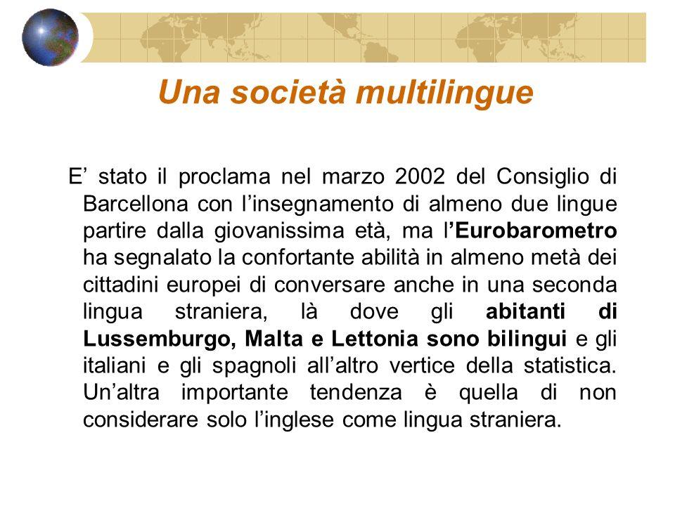 Una società multilingue