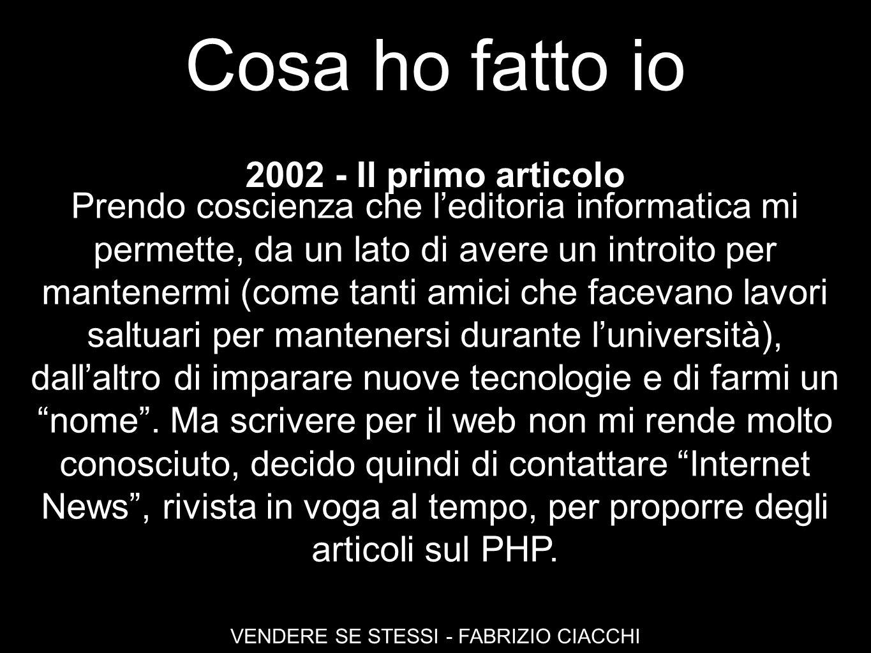 VENDERE SE STESSI - FABRIZIO CIACCHI