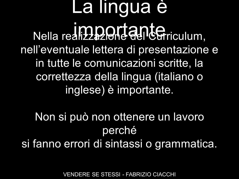 La lingua è importante