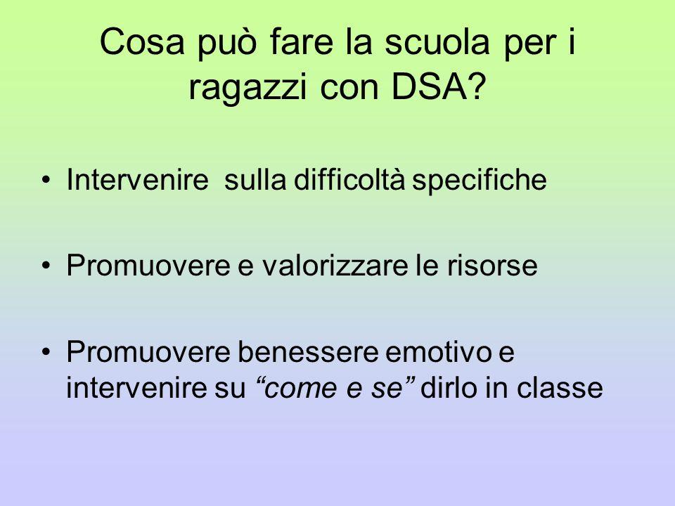 Cosa può fare la scuola per i ragazzi con DSA