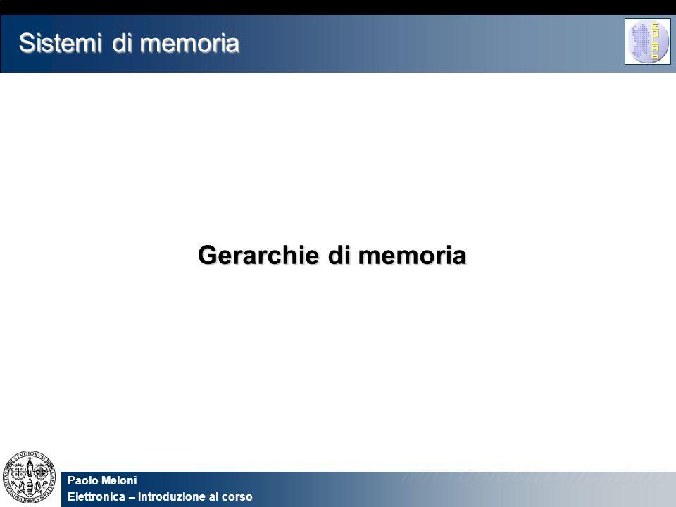 Sistemi di memoria Gerarchie di memoria 2