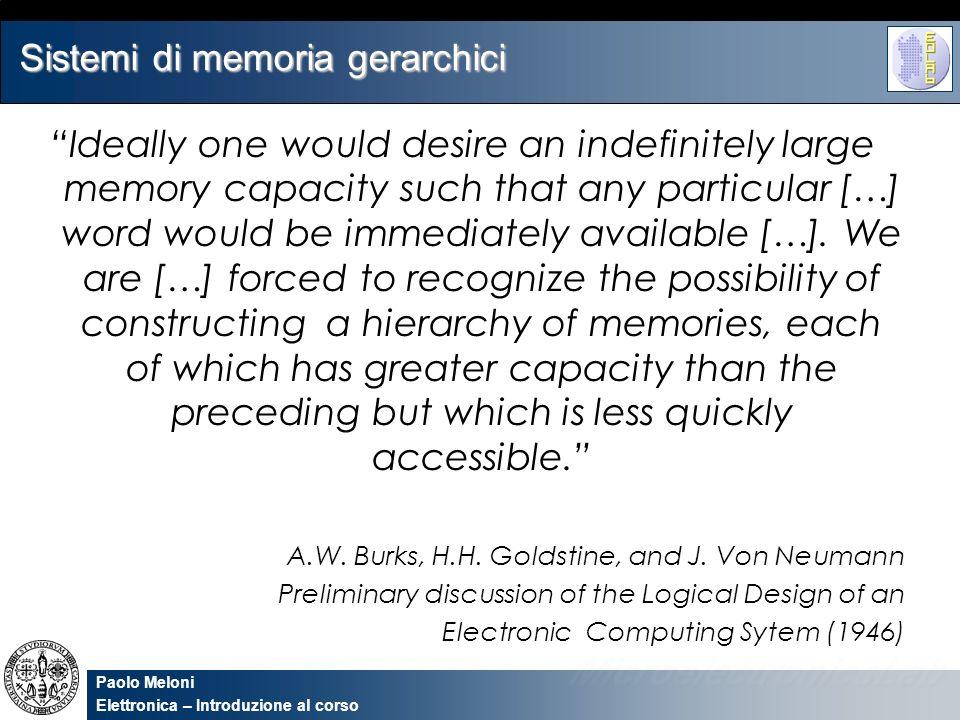 Sistemi di memoria gerarchici