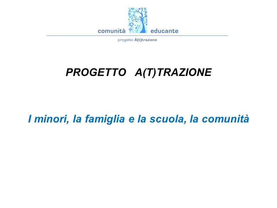 PROGETTO A(T)TRAZIONE I minori, la famiglia e la scuola, la comunità