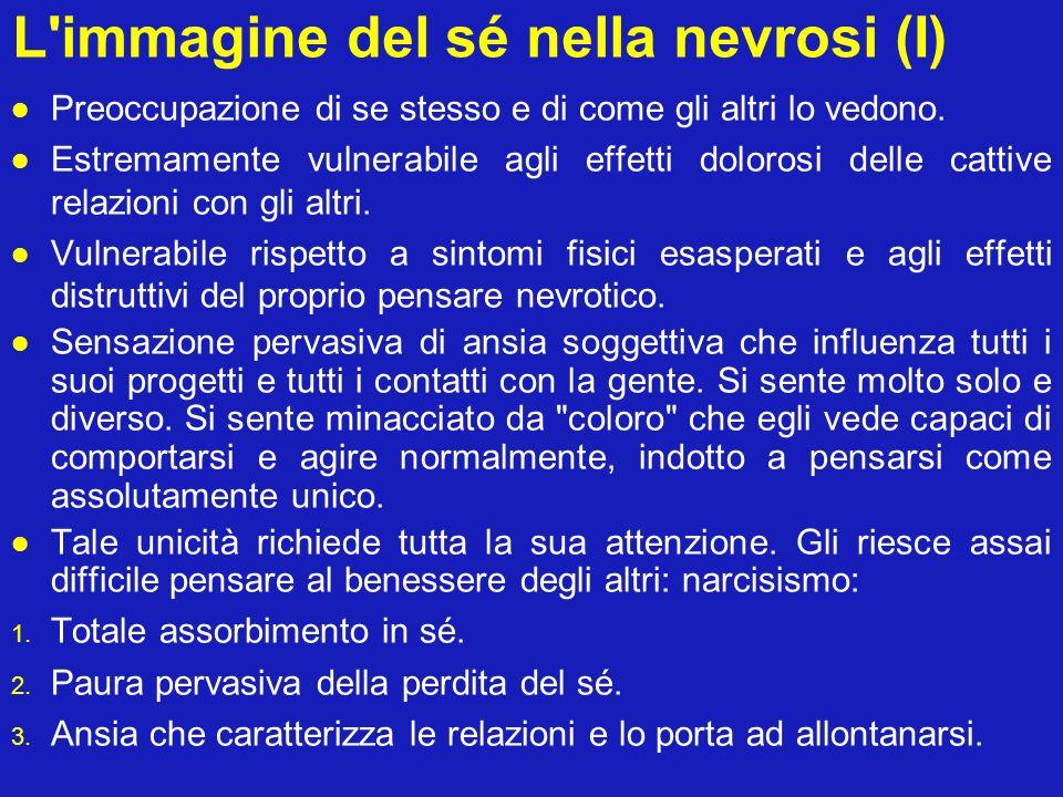 L immagine del sé nella nevrosi (I)