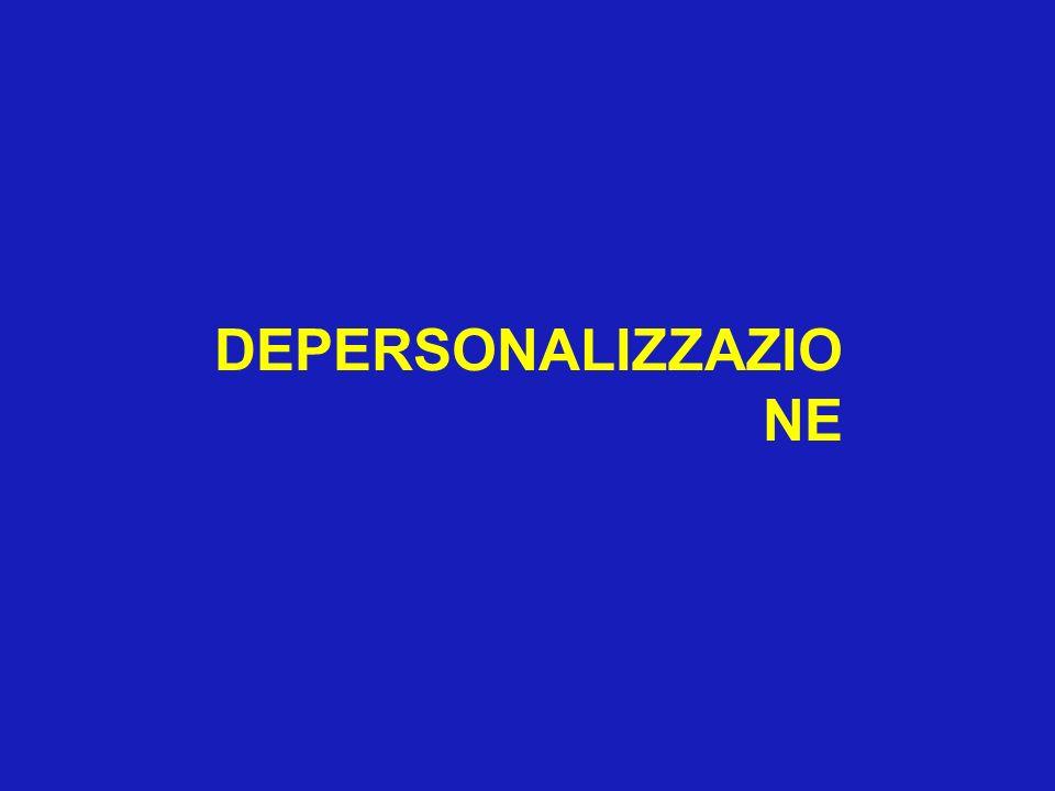 DEPERSONALIZZAZIONE