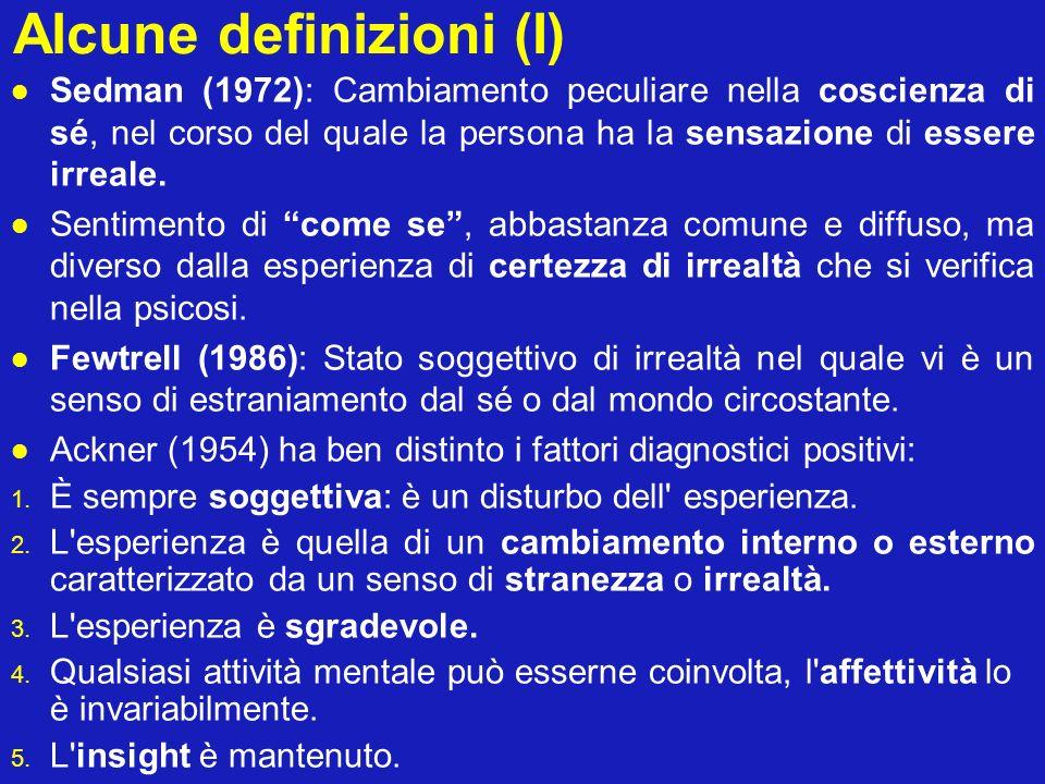 Alcune definizioni (I)