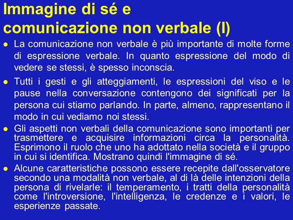 Immagine di sé e comunicazione non verbale (I)