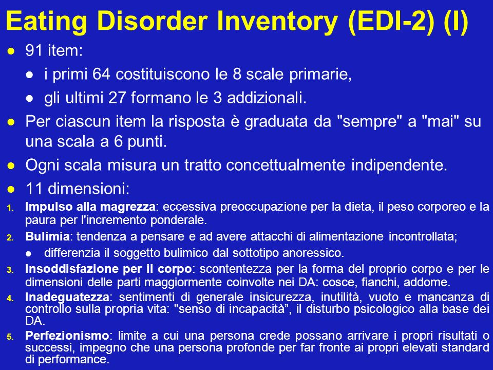 Eating Disorder Inventory (EDI-2) (I)
