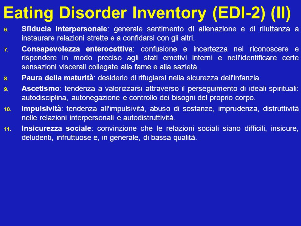 Eating Disorder Inventory (EDI-2) (II)
