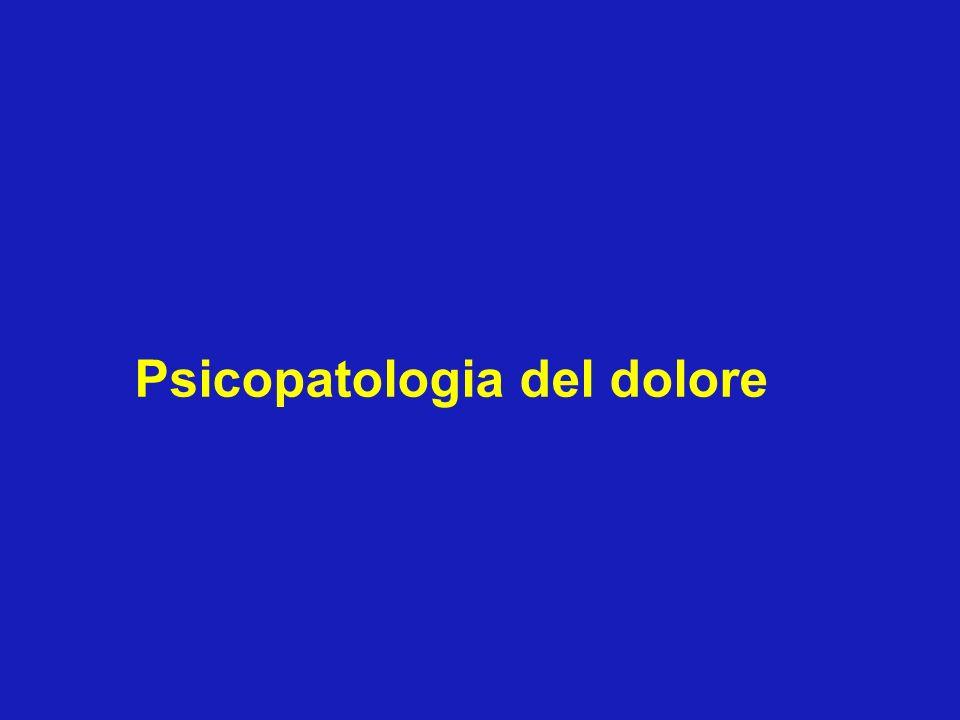 Psicopatologia del dolore