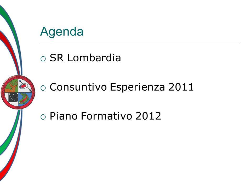 Agenda SR Lombardia Consuntivo Esperienza 2011 Piano Formativo 2012