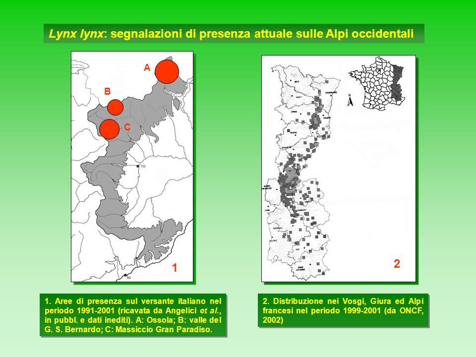Lynx lynx: segnalazioni di presenza attuale sulle Alpi occidentali
