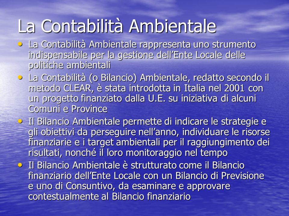 La Contabilità Ambientale
