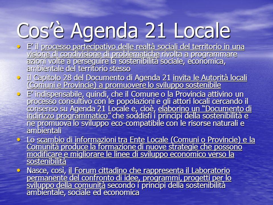 Cos'è Agenda 21 Locale
