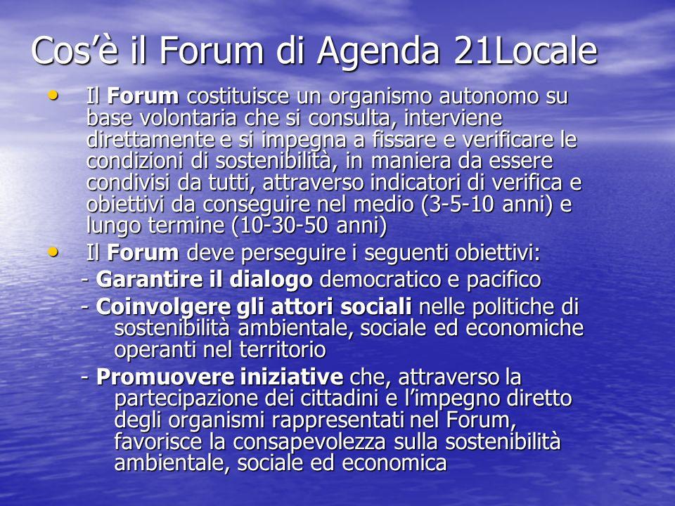 Cos'è il Forum di Agenda 21Locale
