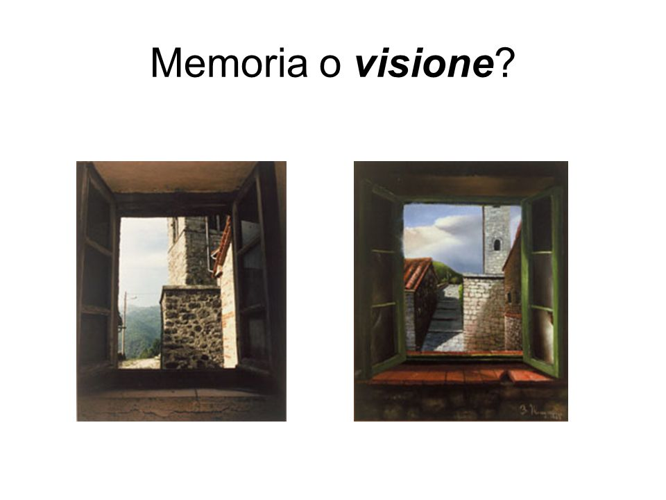 Memoria o visione