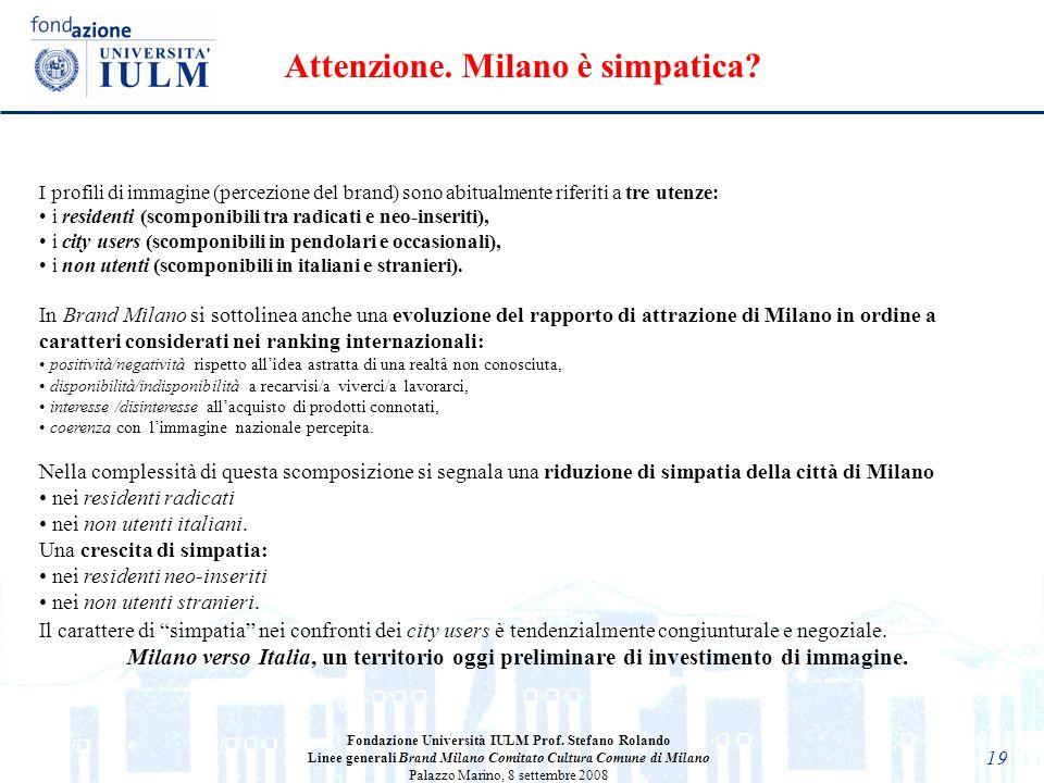 Attenzione. Milano è simpatica