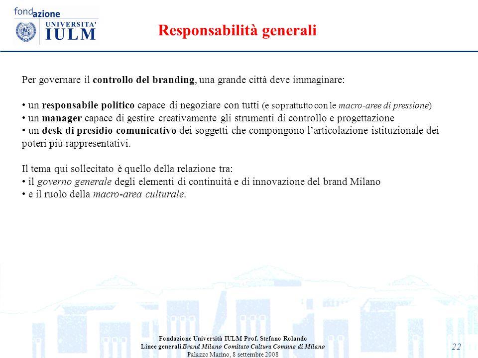 Responsabilità generali