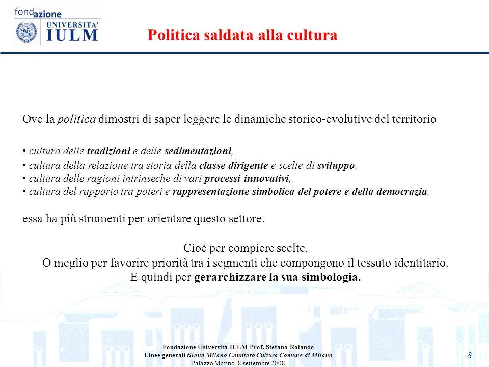 Politica saldata alla cultura