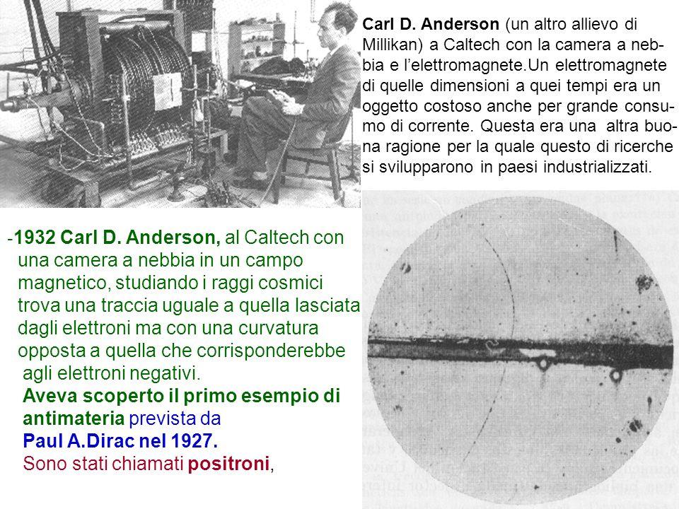 -1932 Carl D. Anderson, al Caltech con una camera a nebbia in un campo