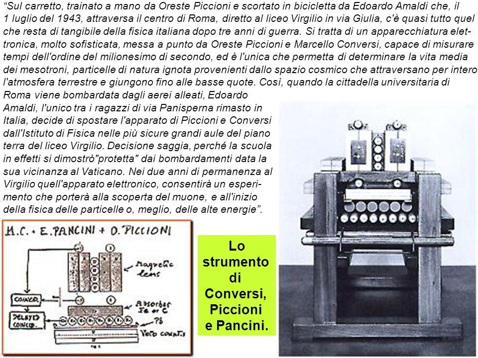 Lo strumento di Conversi, Piccioni e Pancini.