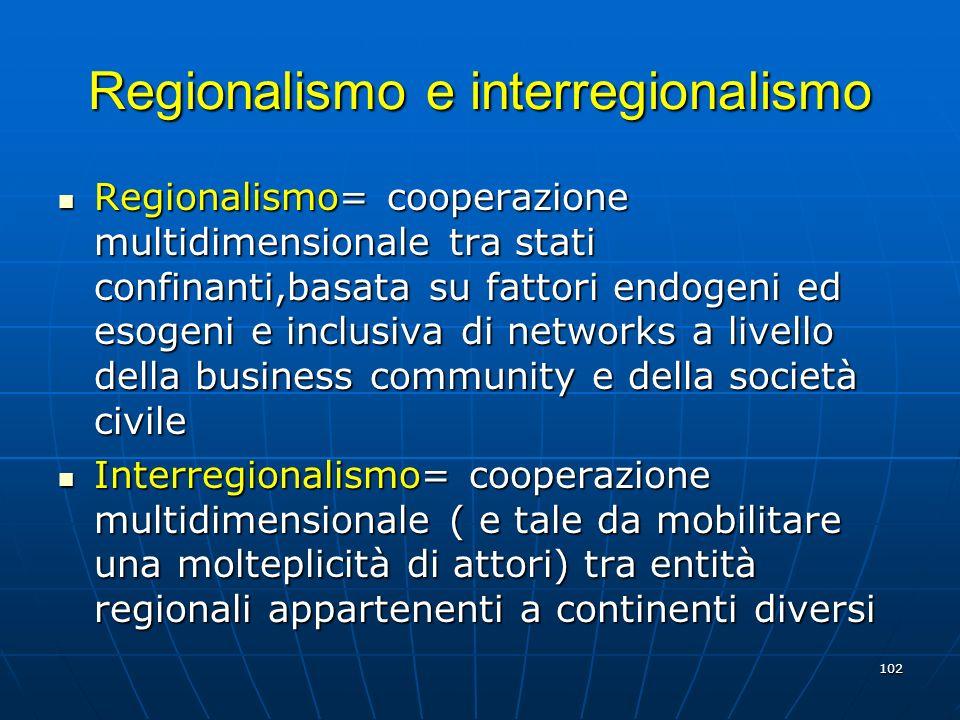 Regionalismo e interregionalismo