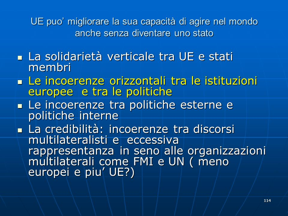 La solidarietà verticale tra UE e stati membri