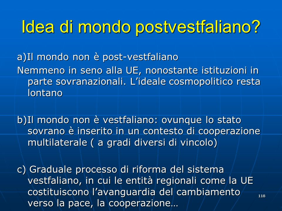 Idea di mondo postvestfaliano