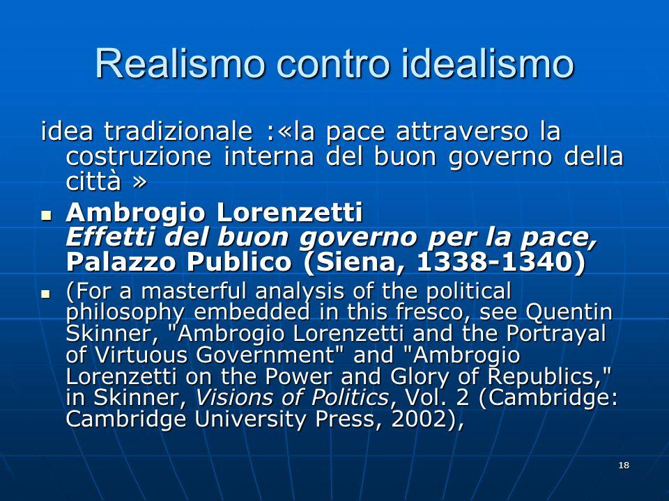 Realismo contro idealismo