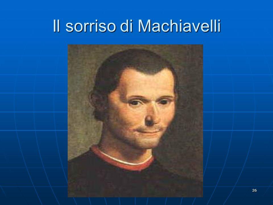 Il sorriso di Machiavelli