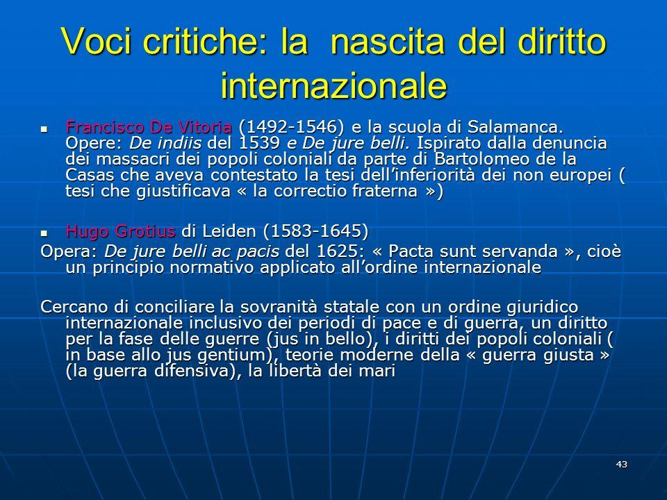 Voci critiche: la nascita del diritto internazionale