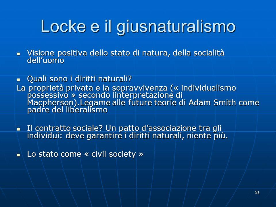 Locke e il giusnaturalismo