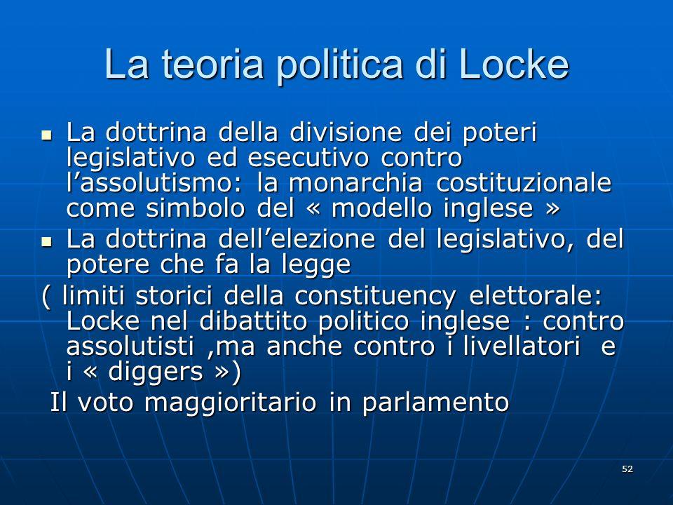 La teoria politica di Locke