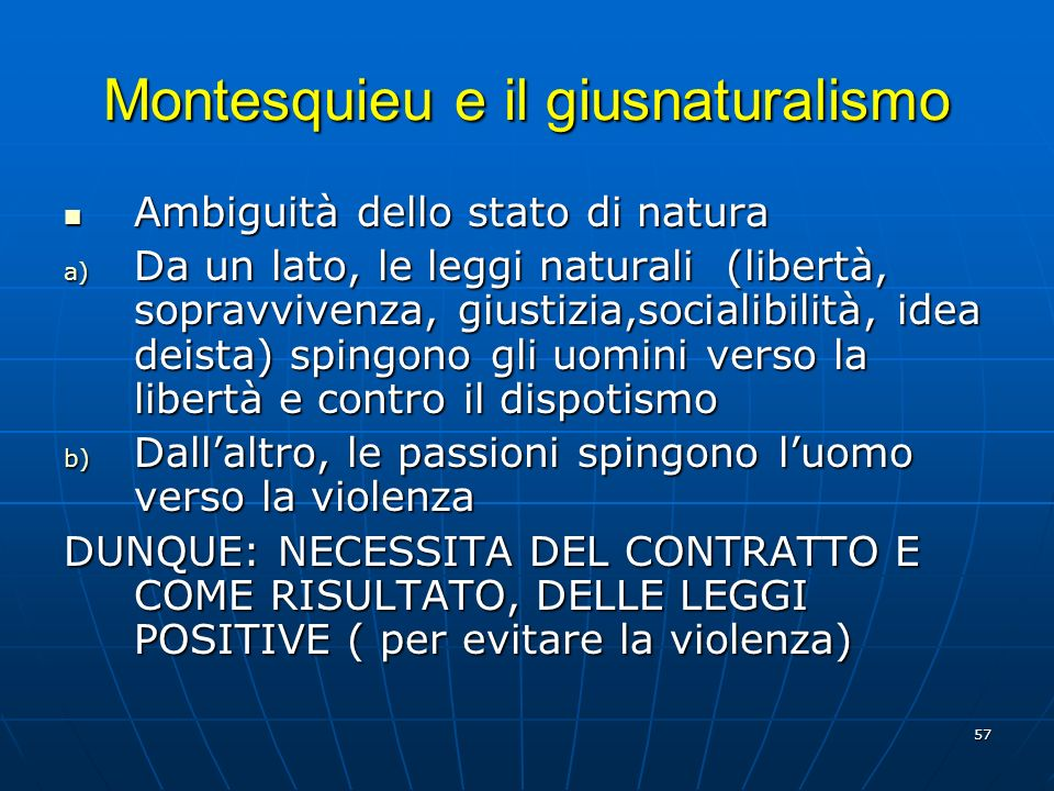Montesquieu e il giusnaturalismo