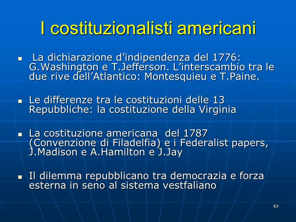 I costituzionalisti americani