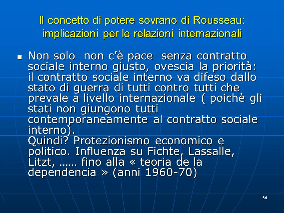 Il concetto di potere sovrano di Rousseau: implicazioni per le relazioni internazionali